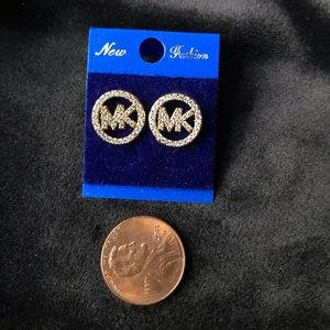 Not authentic MK earrings with sparkling crystal